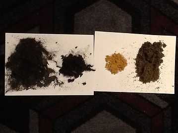 Extracted loose dry dirt from uncleaned
