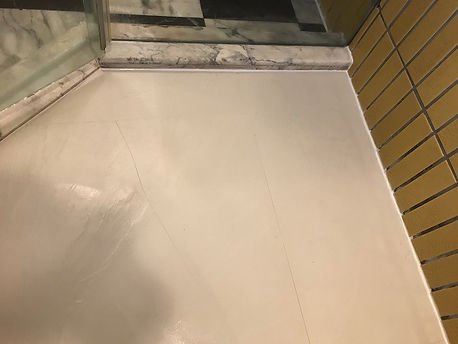 Ugly bulky old grout in shower after (10