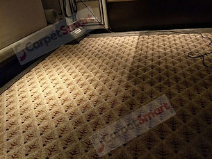 Room carpet during deep clean process wm