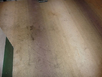 Dirty stained ballroom carpet  before cl