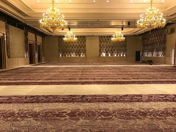 Beautiful ballroom after our deep clean