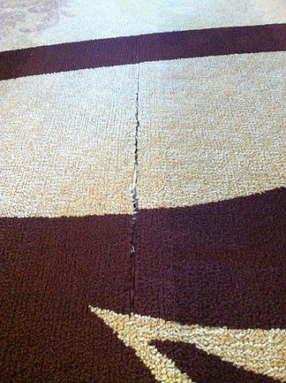Seam Splitting due to carpet shrinkage