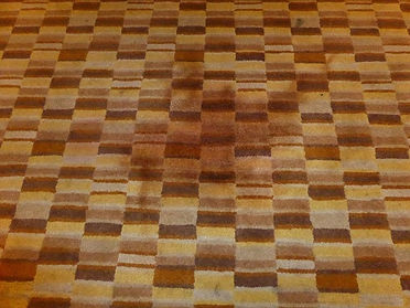 Red Wine stain on carpet before