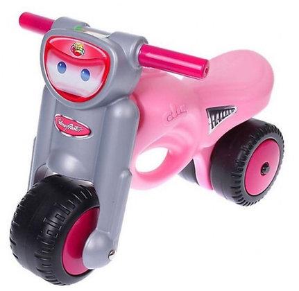 Գլորվող վարդագույն մոտոցիկլետ
