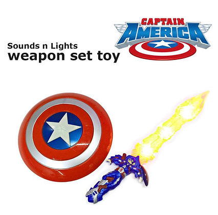 Captain America  զենքի հավաքածու ` սուր և վահան