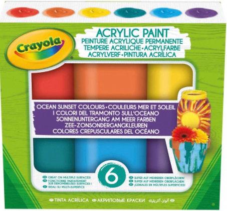 """6 ակրիլային գունաներկեր """"Crayola"""""""