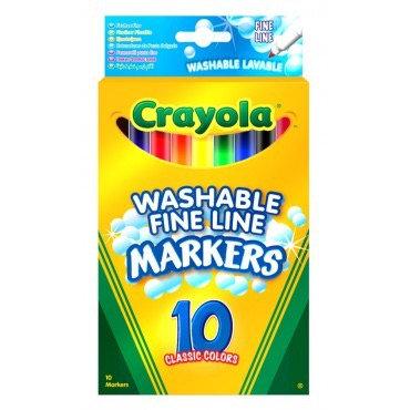 """10 լվացվող բարակ ծայրով մարկերներ """" Crayola """""""