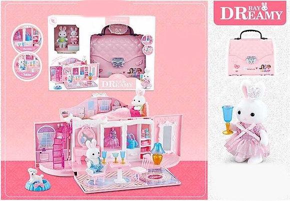 Dreamy նապաստակ պայուսակ` փոքրիկ սենյակով