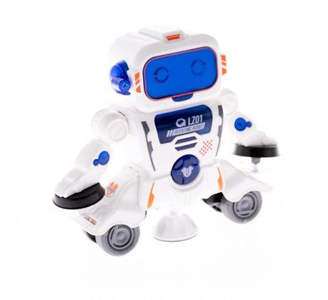 Երաժշտական պարող ռոբոտ լուսային էֆֆեկտներով