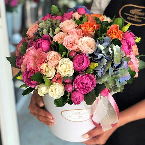 Цветы в шляпной коробке - 36