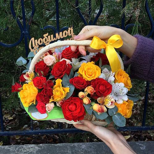 Корзина с цветами - 03