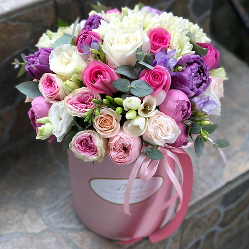 Цветы в шляпной коробке - 15