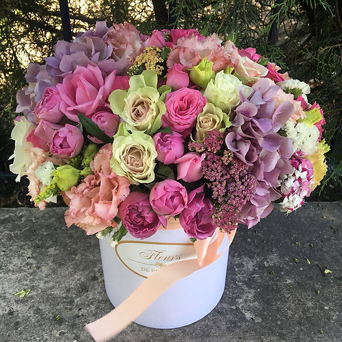 Цветы в шляпной коробке - 19