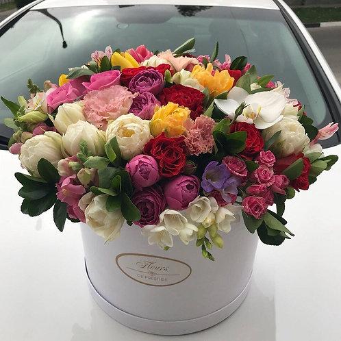 Цветы в шляпной коробке - 52