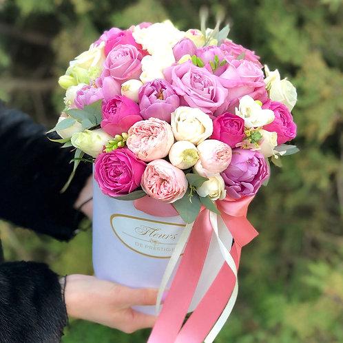 Цветы в шляпной коробке - 17