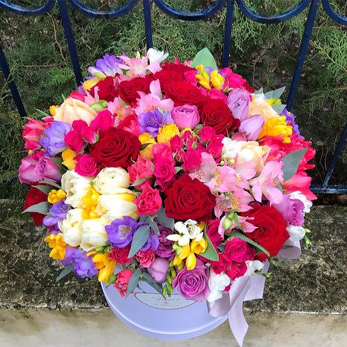 Цветы в шляпной коробке - 53
