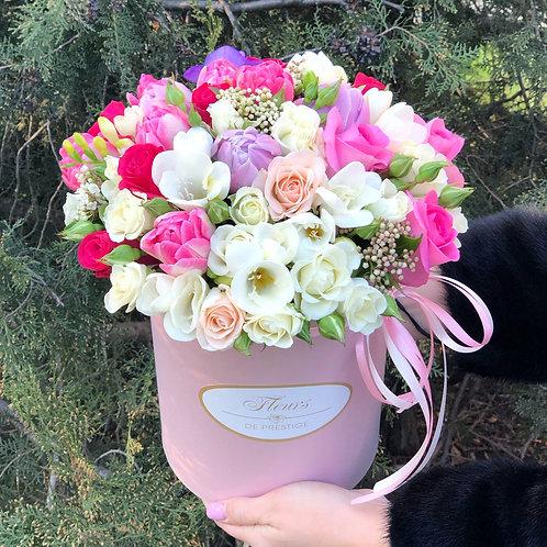 Цветы в шляпной коробке - 18