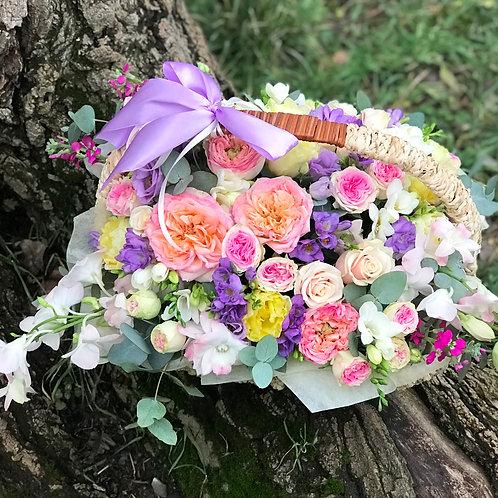 Корзина с цветами - 01