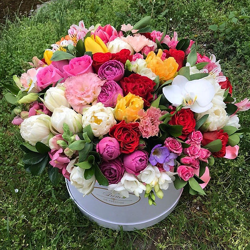 Цветы в шляпной коробке - 46
