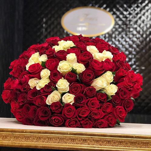 Букет голландских роз 101 шт ассорти