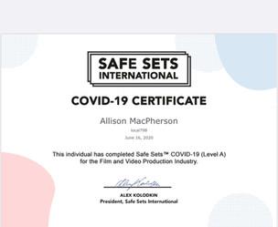 Safe Sets International COVID-19 Certifi