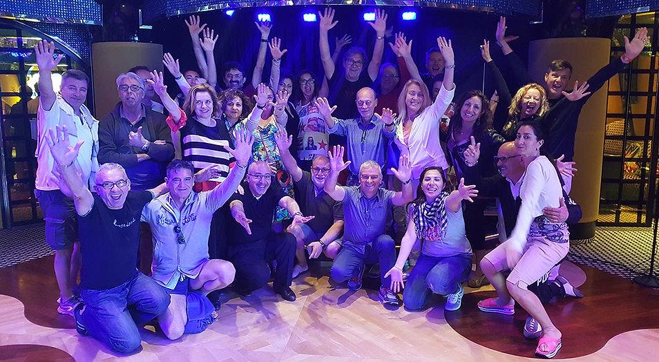 foto di gruppo crociera tango