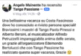 recensione 5 stelle sulla crociera tango