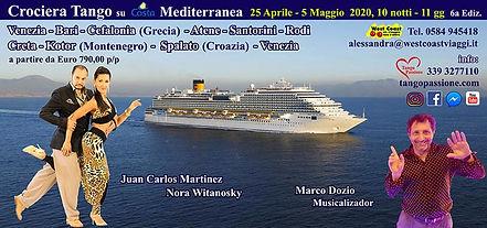 crociera tango costa Mediterranea 25 apr