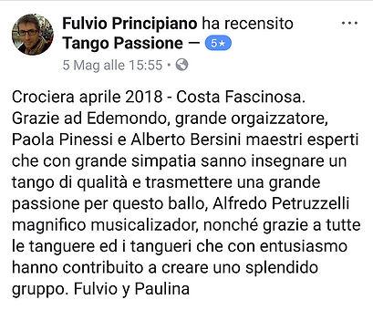 recensione 5 stelle su tango passione