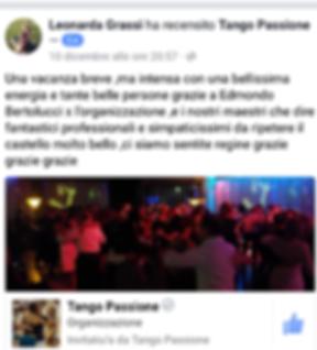 recensione 5 stelle per vacanza tango passione