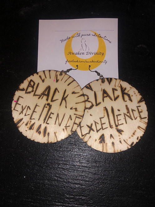 Wooden Black Excellence Earrings