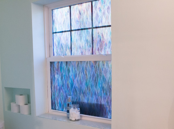 Privacy window in the bathroom.