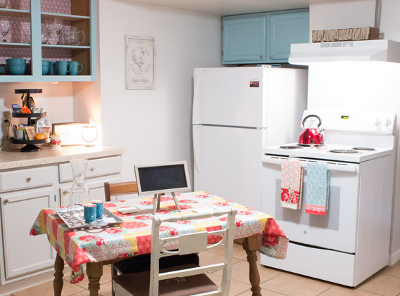 The kitchen is well-appointed with all you need for simple meals!