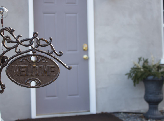 Your own private entrance to The Cottage basement apartment includes self-check in with keypad lock.