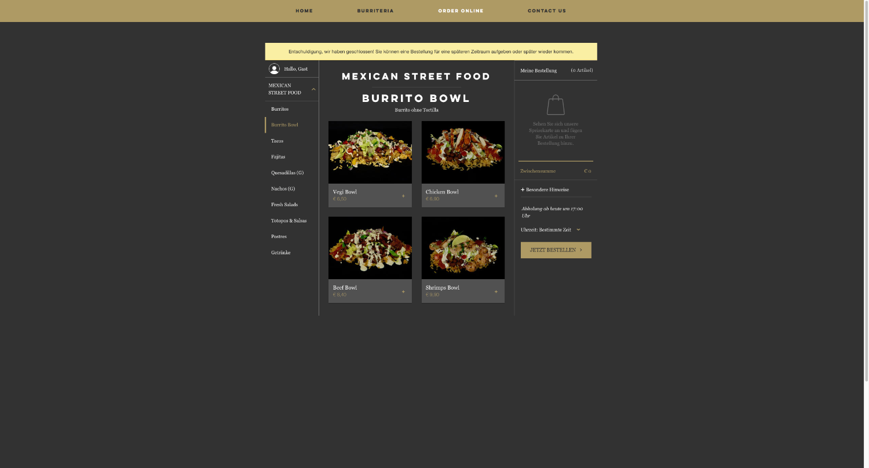 Online Bestellung