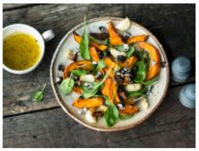Kürbissalat mit Bohnen