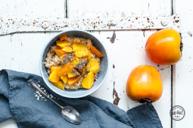 Porridge mit Zimt & Kakikompott
