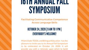 Miami Dade TESOL and Bilingual Education VIRTUAL Fall Symposium, October 24