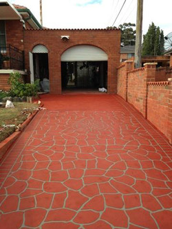stencil concrete driveway