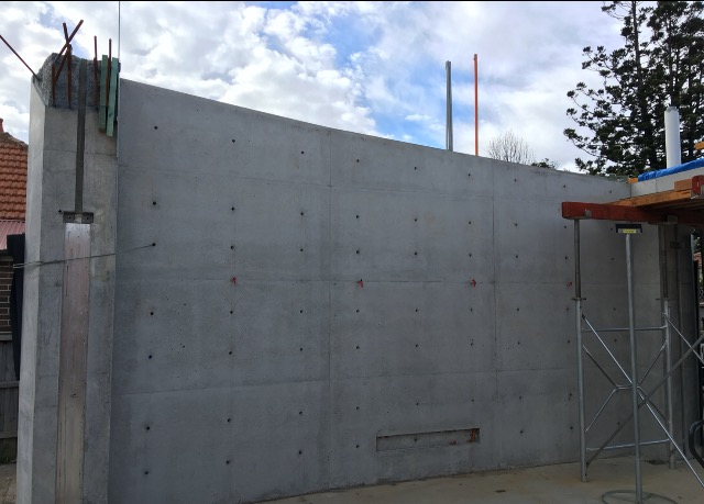 off form concrete wall