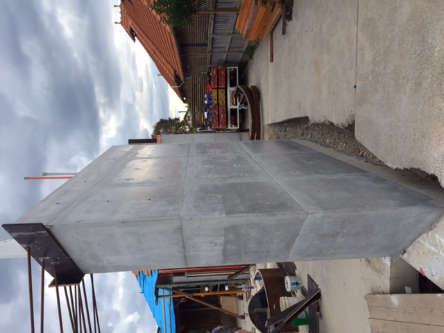 off form concrete walls