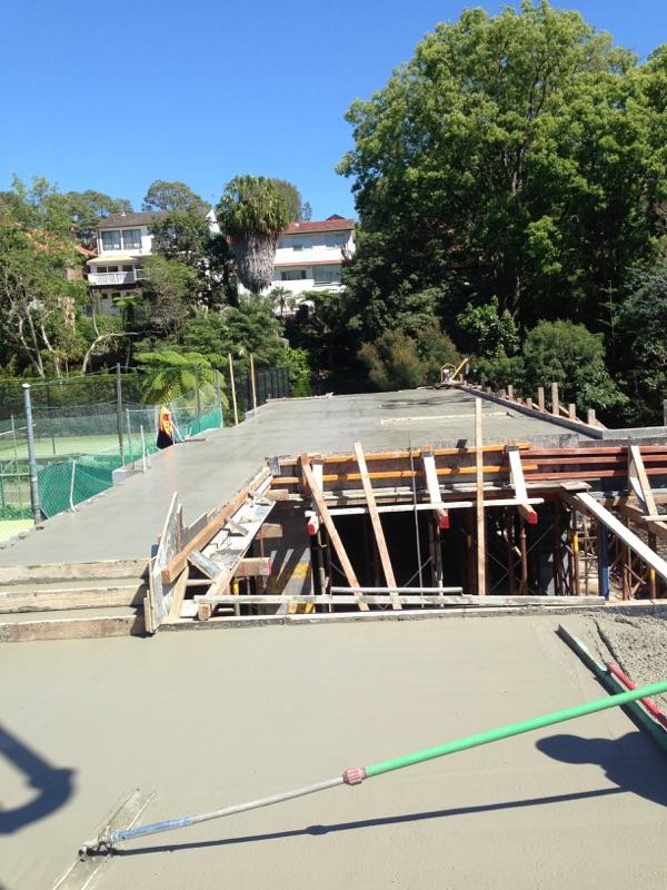 residential concrete pour