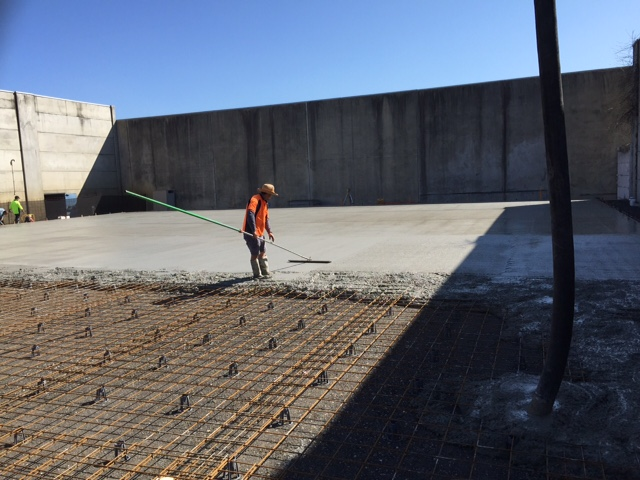 industrial warehouse concrete pour