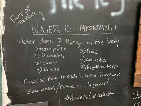 FOTW 03.25.21 - Why you should drink your H2O