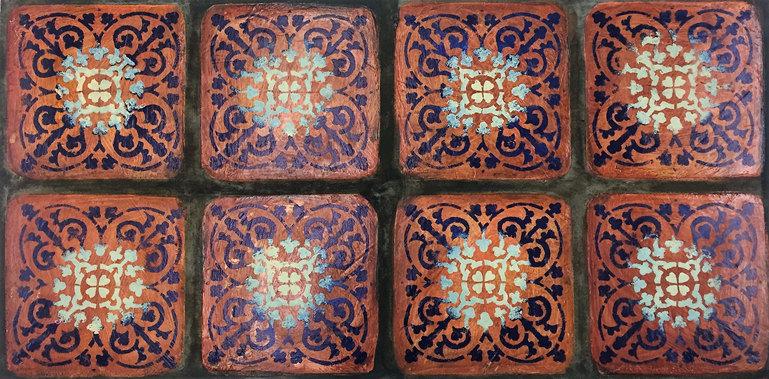 Stencil Art - Terracotta Tiles