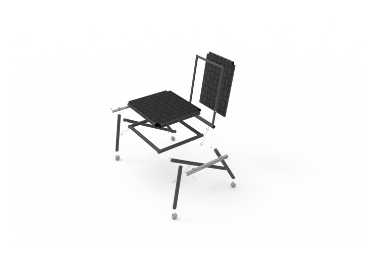 Product Design- Designed a reclining chair made of scrap metal and bicycle tyre tubes.