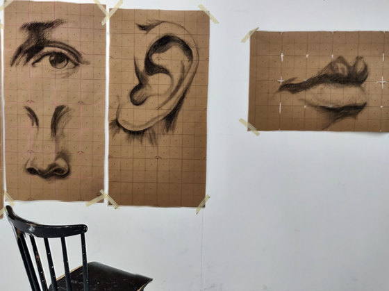 Facial Features - Charcoal