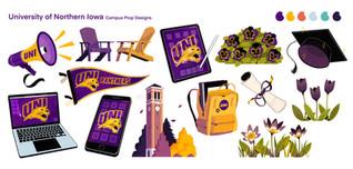 University of Northern Iowa Spot Illustrations