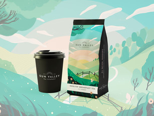 Speculative Sun Valley Tea Branding
