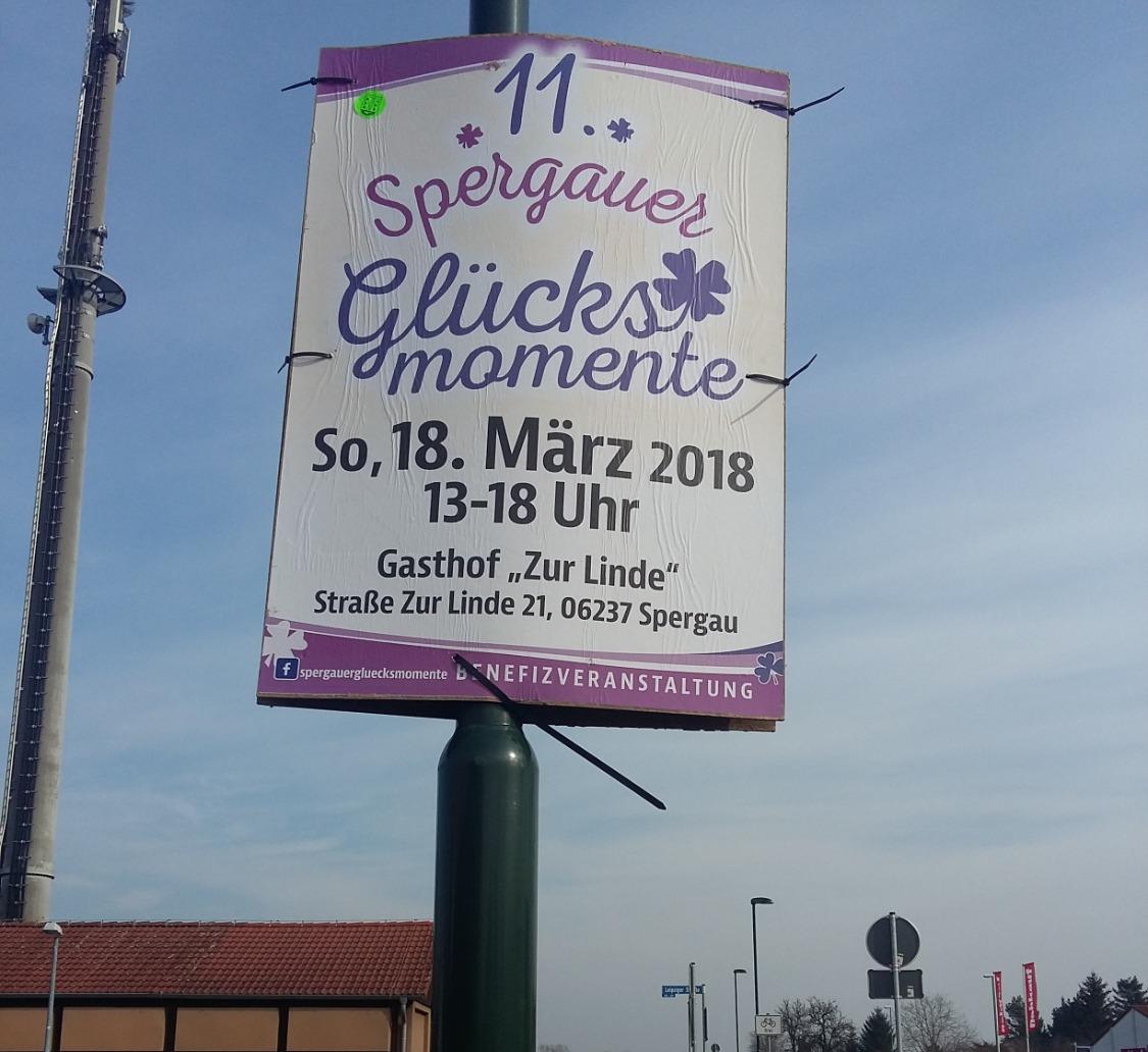 Plakatierung Spergauer Glücksmomente